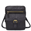 Mens Leather Cross Body Classic Flight Bag Ashton Black