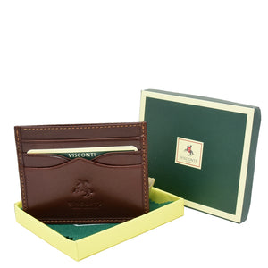 Premium Leather Card Holder Venice Brown 3