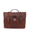 Mens Leather Bag Vintage Style Briefcase Shores Brown 2