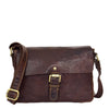 Womens Classic Cross Body Shoulder Bag Hazel Brown 2