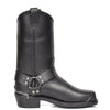 block heel leather cowboy boots
