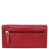 Womens Envelope Style Leather Purse Adelaide Red 3