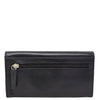 Womens Envelope Style Leather Purse Adelaide Black 3
