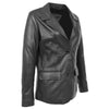 Womens Leather Semi Fit Two Button Blazer Shirley Black 3