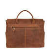 Mens Leather Cross Body Flap Over Briefcase Caleb Tan back