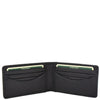 Slim Fold Leather Card Wallet Madrid Black 3