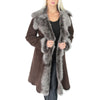 ladies brown sheepskin coat