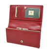 Womens Envelope Style Leather Purse Mary Red 4