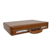 Traditional Croc Print Attaché Case HOL87 Brown 2