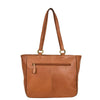 Womens Leather Classic Shopper Fashion Bag Sadie Tan back