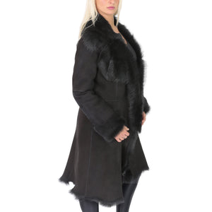 shearling fur coat for women's
