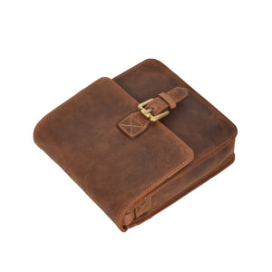 tan leather pouch for mens