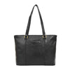 Womens Leather Classic Shopper Bag Sadie Black 4