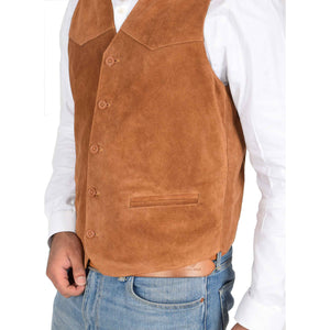 soft suede waistcoat for gents