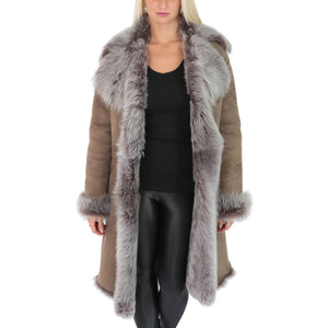 ladies shearling coat