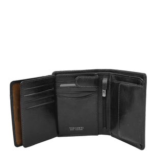 Mens RFID BiFold Leather Wallet Taunton Black 5