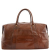 Real Leather Travel Holdall Large Size Duffle Perugia Tan 1