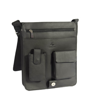 leather bag for mens with organiser sections