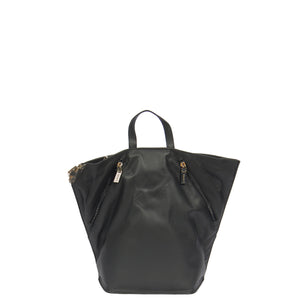 womens leather backpacks in black