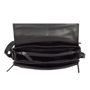Womens Leather Cross Body Shoulder Bag Maldives Black