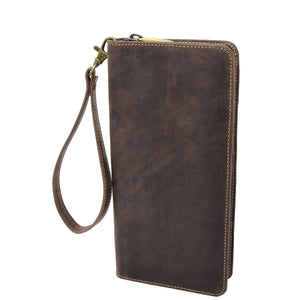 Vintage Leather Travel Documents Wallet Marlo Brown