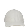 precurved bill leather cap