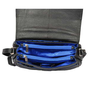 ladies bag with middle zip divider sections