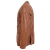 Mens Leather Blazer Two Button Jacket Zavi Tan 4