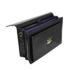 Mens Faux Leather Flap Over Briefcase Windsor Black 4