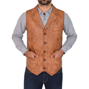 mens waistcoat with three pockets