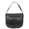 Womens Leather Cross Body Handbag Mila Black back