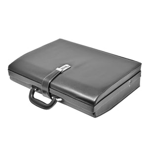 briefcase with a top handle