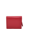 Womens Small Trifold Leather Purse Carmel Red 2
