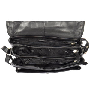 ladies bag with triple zip compartment