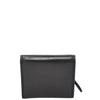 Womens Small Trifold Leather Purse Carmel Black 3