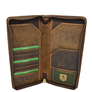 Vintage Leather Travel Documents Wallet Marlo Tan 4