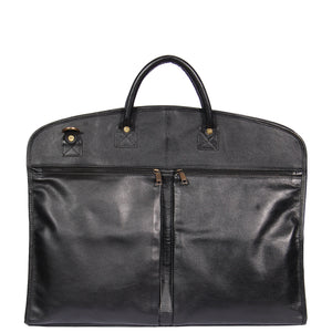 soft leather suit carrier
