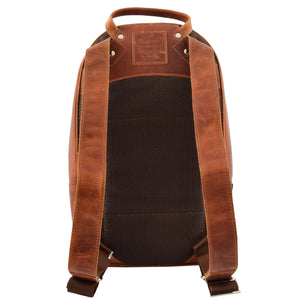 Large Classic Casual Leather Backpack Palermo Tan 1