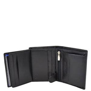 Mens Soft Leather Small Bifold Wallet Brisbane Black 5