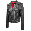 Womens Leather Biker Brando Jacket Kate Black 4