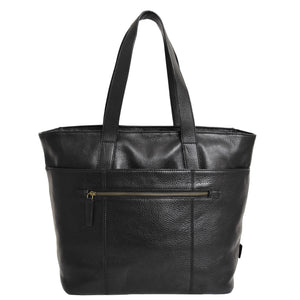 Ladies handbag with outer pocket