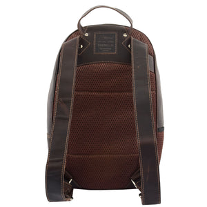 Large Classic Casual Leather Backpack Palermo Brown 1