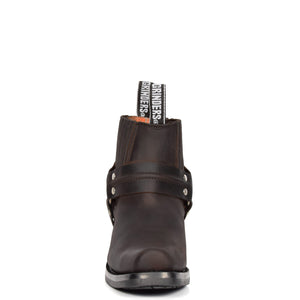square toe leather shoes
