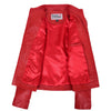 Womens Leather Classic Biker Style Jacket Alice Red 5
