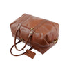 Real Leather Travel Holdall Large Size Duffle Perugia Tan 4