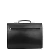 Mens Leather Flap Over Briefcase Dunkirk Black 1