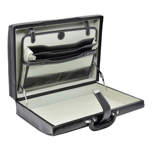 attache case with storage sections