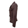 Womens Leather Hip Length Biker Jacket Celia Brown 6