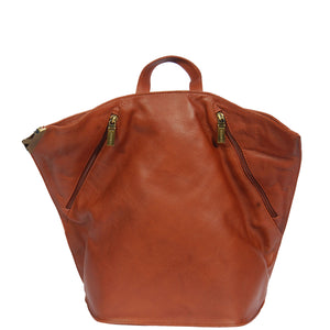 ladies leather travelling backpack