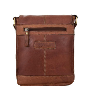 Mens Leather Cross Body Flight Bag Oldenburg Tan 1